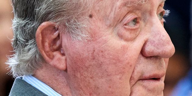 El rey emérito Juan Carlos I, en su más reciente intervención pública, el pasado 10 de enero, en la entrega...