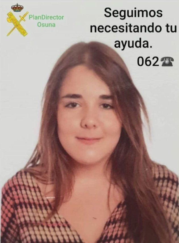 La joven Susana, en una imagen difundida para su