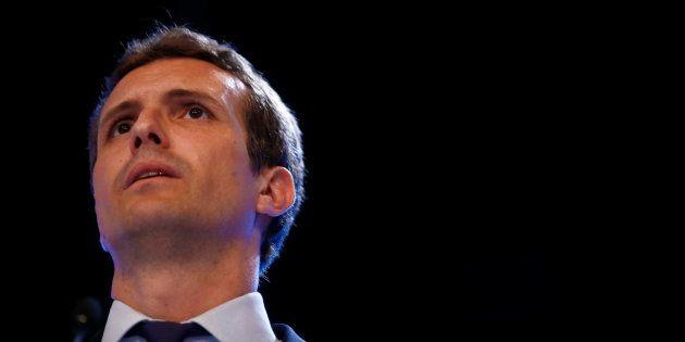 Pablo Casado, el día de su elección como nuevo líder del