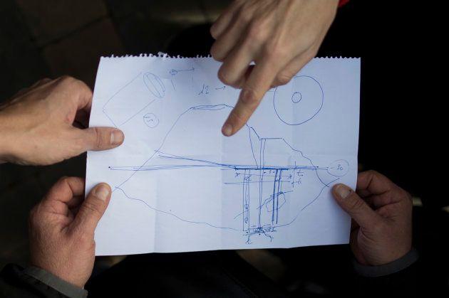 Mapa de la excavación que se está llevando a cabo en Totalán (Málaga), donde el pequeño Julen permanece...