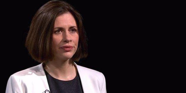 Helen Evans durante la entrevista en Channel 4