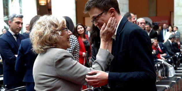 La alcaldesa de Madrid, Manuela Carmena, y el diputado de Podemos Iñigo Errejón.