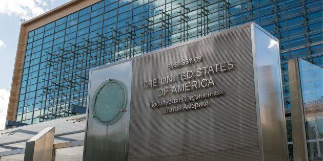 Uno de los edificios de la embajada de EEUU en