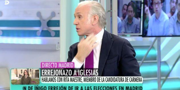 Eduardo Inda, en 'El programa de Ana
