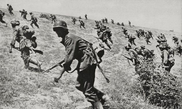 Soldados alemanes luchando en Stalingrado. Septiembre,
