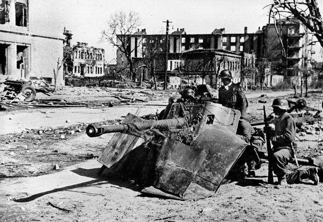 Frente ruso en las calles de Stalingrado. Octubre,
