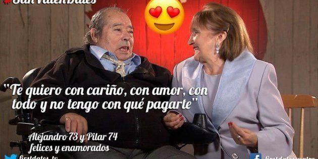 Esta pareja de ancianos protagoniza la cita más emotiva de la historia de 'First