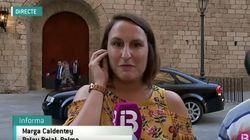 Una periodista de la televisión balear termina llorando por el boicot de un grupo de