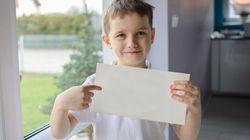 La genial carta de amor de un niño de cuatro años a su