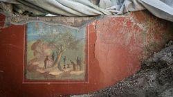 Emerge en Pompeya la Casa de Júpiter y sus frescos de estilo
