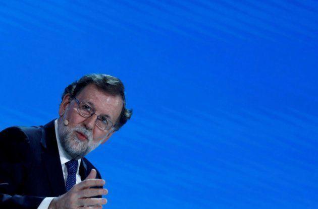 Rajoy durante la convención del