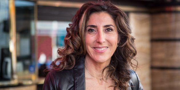 Paz Padilla en la presentación de la obra de teatro 'Desatadas' en diciembre de
