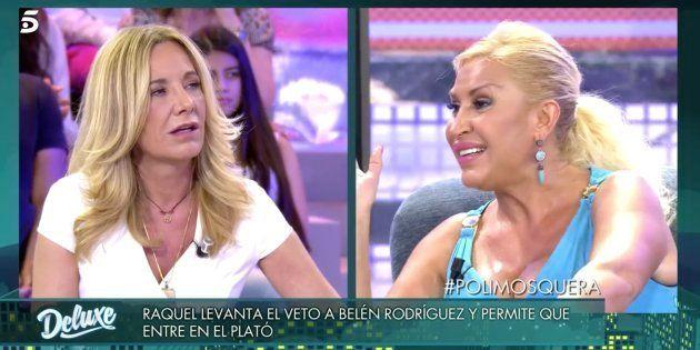 Un pique entre Raquel Mosquera y Belén Rodríguez en 'Sábado Deluxe' desespera a María