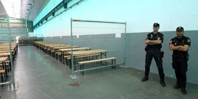 El Centro de Atención Temporal de Extranjeros (CATE) habilitado por el Ministerio del Interior en el...