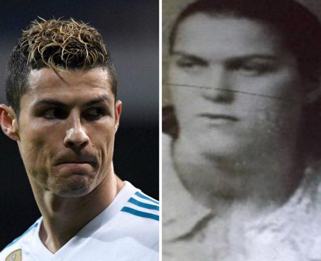 El increíble parecido entre Cristiano Ronaldo y su