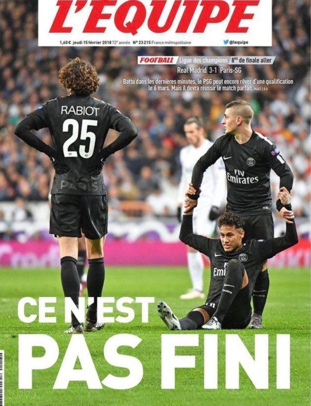 La portada de L'Equipe tras el Real