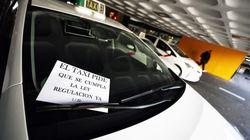Los taxistas siguen con la huelga y cortan el tráfico en Madrid y