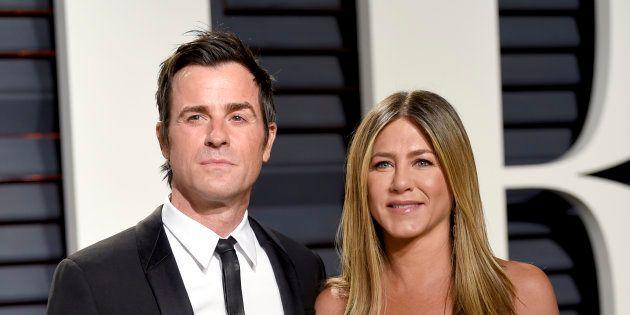 Justin Theroux y Jennifer Aniston en la fiesta Vanity Fair tras los Oscar el 26 de febrero de