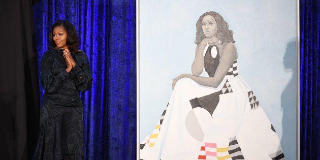 El vestido de Michelle Obama en su último retrato esconde un importante
