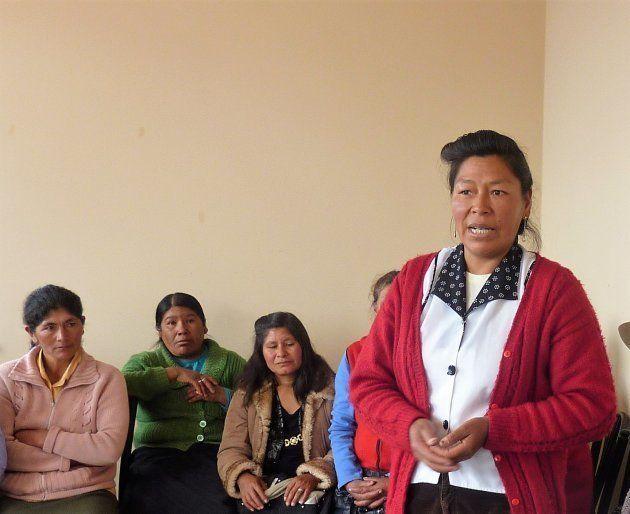 Rute Zúñiga, durante una reunión de la Asociación de Mujeres Peruanas Afectadas por las Esterilizaciones...