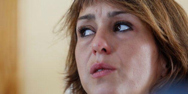 Juana Rivas, en julio de 2017, durante una rueda de