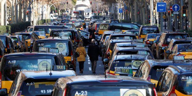 Taxis en huelga en