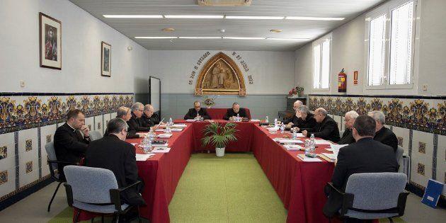Los obispos en la reunión de la Conferencia Episcopal Tarraconense