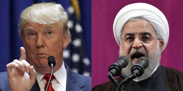 El presidente de EEUU, Donald Trump, y el de Irán, Hassan Rohani, en sendas imágenes de