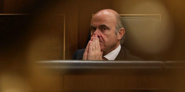 El ministro de Economía, Luis de Guindos, en el