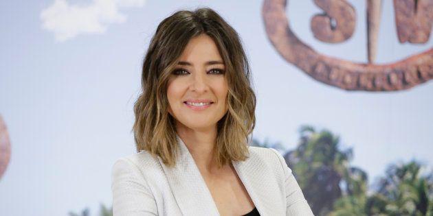 La periodista Sandra Barneda, durante la presentación del programa 'Supervivientes' el 6 de marzo de