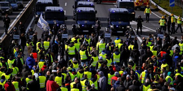 Protesta de taxistas en
