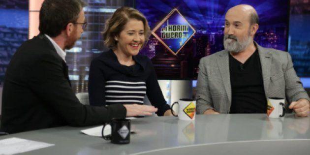 Pablo Motos, María Pujalte y Javier Cámara en Antena