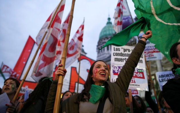 Una marcha a favor del aborto el pasado julio en