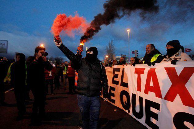 Tercera jornada de huelga de taxis en