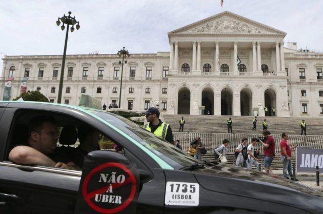 Protestas en Portugal contra
