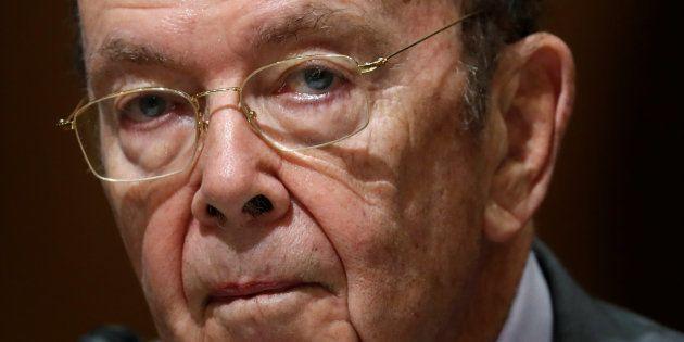 ElsecretariodeComerciode Estados Unidos, Wilbur Ross, en una comparecencia en Washington, el pasado...