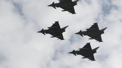 Un Eurofighter español dispara accidentalmente un misil durante una misión en
