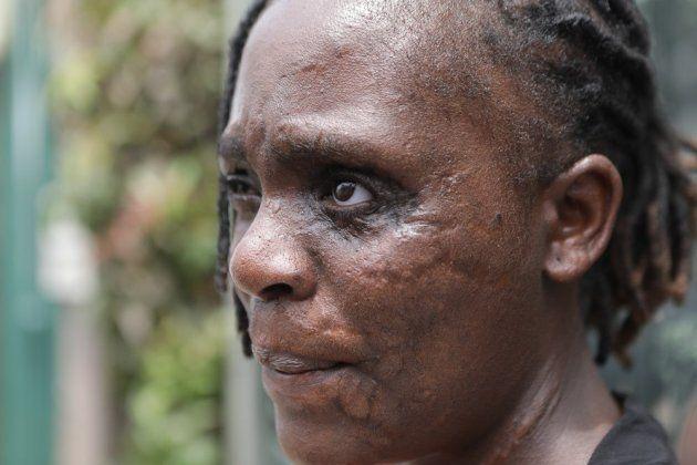 Una de las víctimas de Al Qaeda, durante el acto de homenaje en