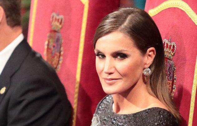 La reina Letizia durante la ceremonia de entrega de los Premios Princesa de