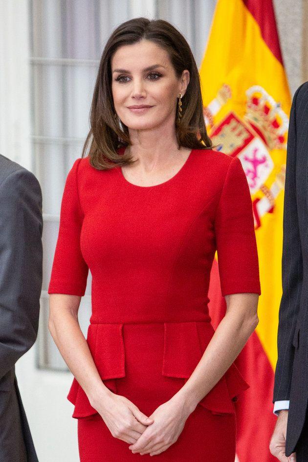 La reina Letizia el 10 de enero durante la entrega de los Premios Nacionales del Deporte