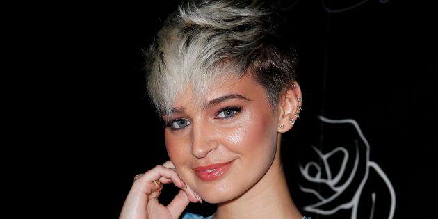 La modelo Laura Escanes, durante la presentación de su libro, 'Piel de letra', el 10 de abril de