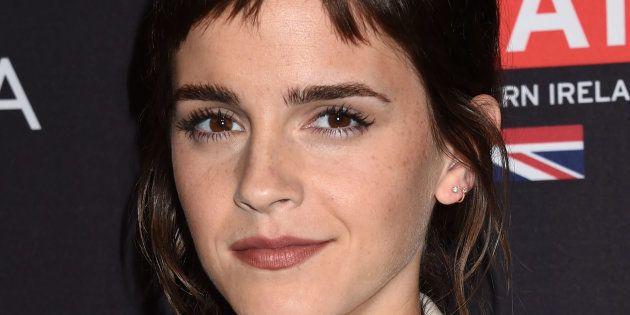 La actriz Emma Watson en una fiesta con motivo de los Bafta el 6 de enero de 2018 en Los
