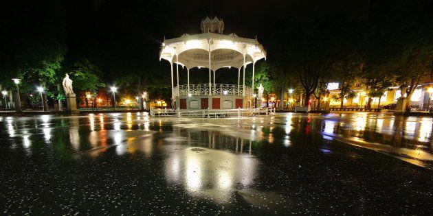Kiosco del Parque de la Florida de Vitoria, donde ocurrieron los hechos
