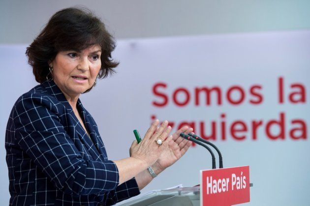 La secretaria de Igualdad del PSOE, Carmen