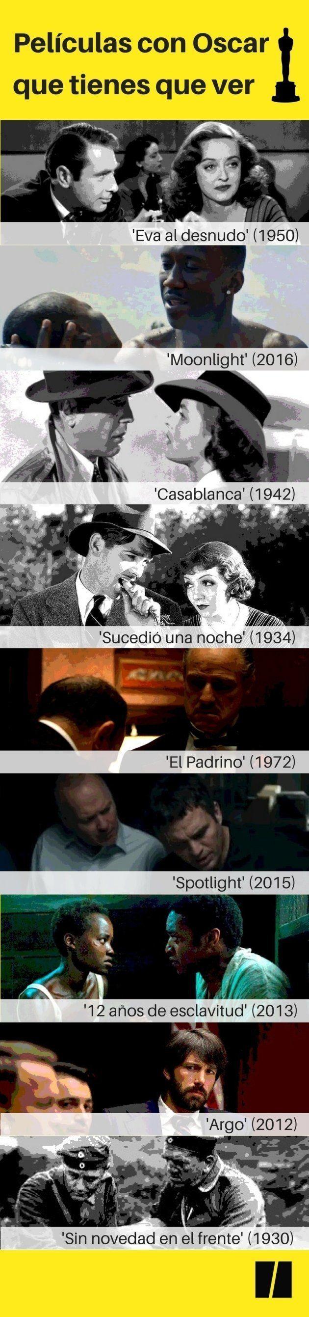Nueve películas que han ganado el Oscar y que tienes que