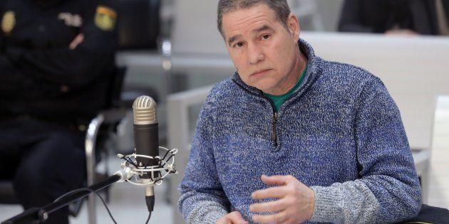 Antonio Troitiño, el histórico miembro de ETA, declarando en la Audiencia Nacional de