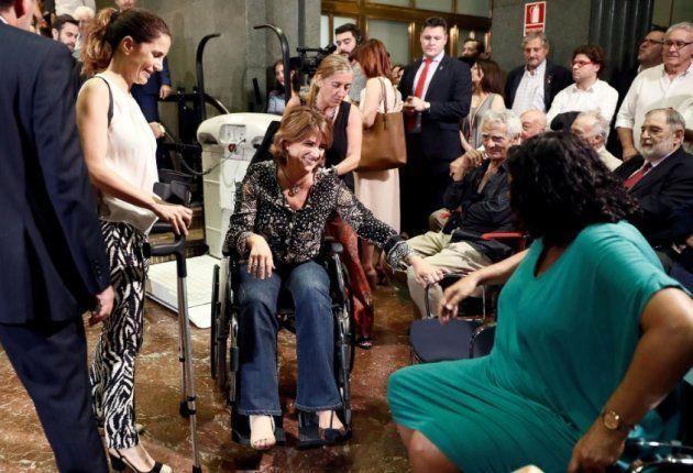 La ministra en la toma de posesión del nuevo director del Instituto Cervantes, Luis García