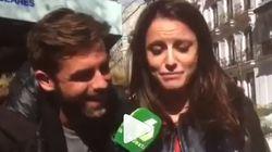 Andrea Levy se arranca a cantar el himno de España de Marta