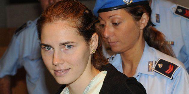 Foto de archivo de la estadounidense Amanda Knox a su llegada al juicio de apelación por el asesinato...