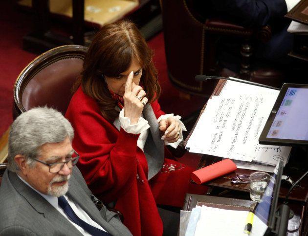 La expresidenta de Argentina Cristina Fernández de